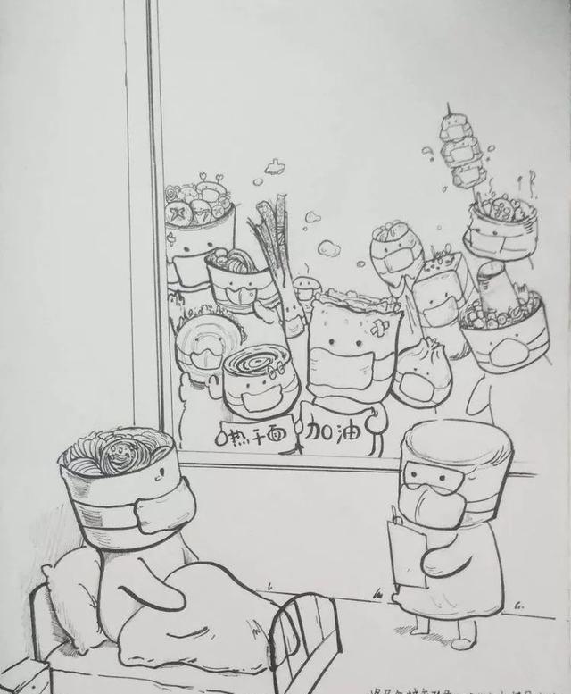 邯郸一中学生太有才了,素描钟南山院士头像栩栩如生